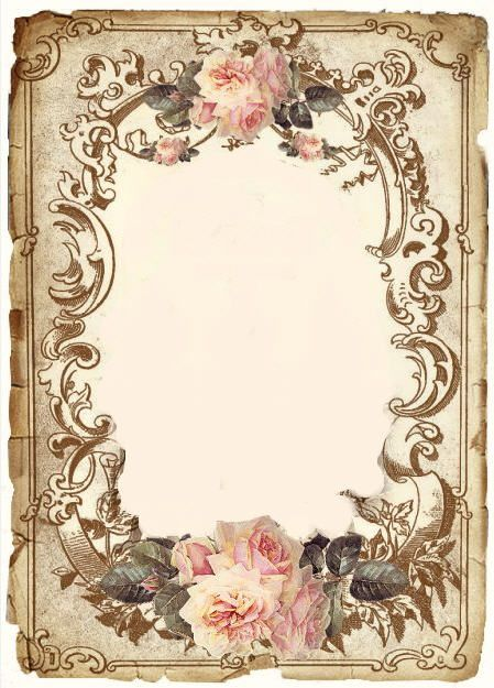 Victorian postcard altered to blank center note card