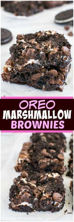 20 Absolutely Amazing Dessert Recipes - Oreo Marshmellow Brownies