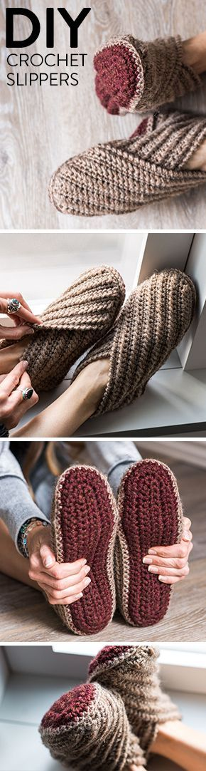 Rustic Wrap Slippers Crochet Kit #hakeln # slippers #rustic   – Häkeln