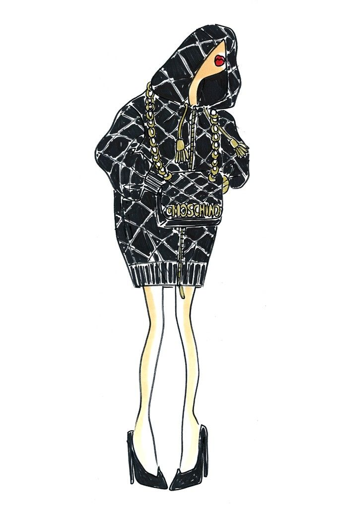 Jeremy Scott for Moschino collection sketches