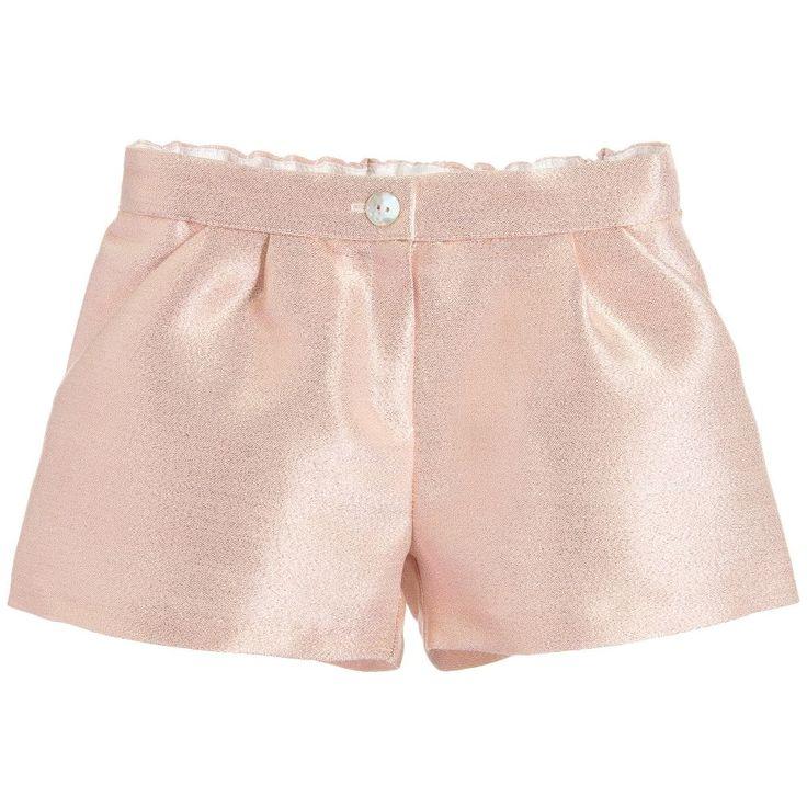Charabia Girls Metallic Pink Shorts at Childrensalon.com