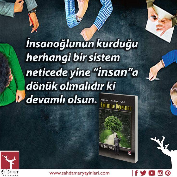 Eğitimden beklenen 'iyi bir insan olmak' olmalıdır.  Bediüzzaman'a Göre Eğitim ve Öğretmen: http://www.kitapkaynagi.com/product/sahdamar-yayinlari/bediuzzamana-gore-egitim-ve-ogretmen #şahdamar #sahdamar #şahdamaryayınları #kitap #book #eğitim #öğretmen #öğremci #eğitimsistemi #günümüzeğitim #şimdikieğitim #bediüzzaman #bediüzzamansaidnursi #bediüzzamangöreeğitim #veöğretmne