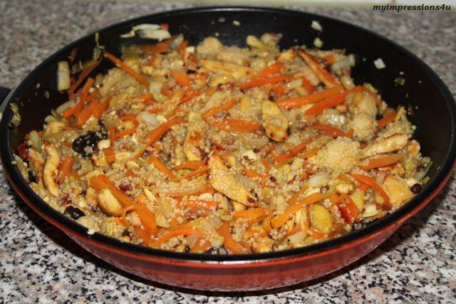 Chinesische Gemüsepfanne mit Couscous