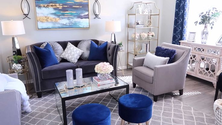 gray blue accent chairs for modern living room ideas and