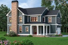 Country Farmhouse Southern House Plan 72657 Elevation