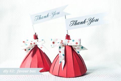L'idée DIY mariage du jour : des boîtes en papier