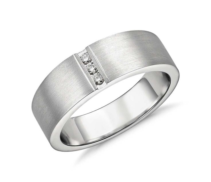 modern channel ring in platinum 1 12 ct tw