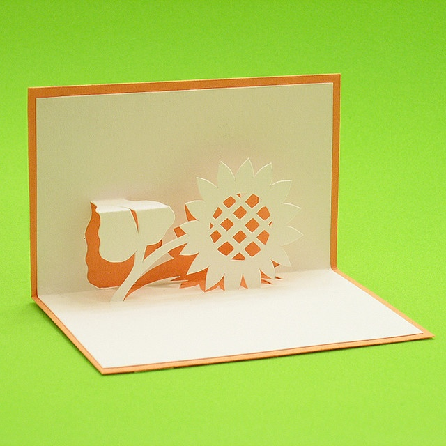 3d Card Making Ideas Part - 27: Sunflower Pop Up Card