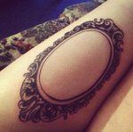 Picture frame tattoo by ~cyclops-lady on deviantART