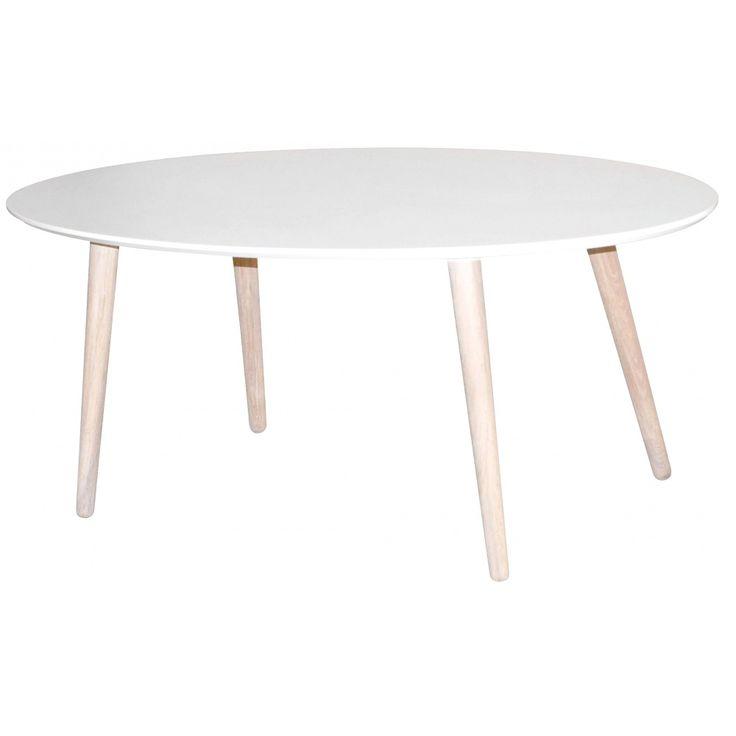 Köp - 2190kr! Stavanger soffbord ovalt - Vit/vitoljad ek. Trendö är en stilsäker serie som matchar modern design med