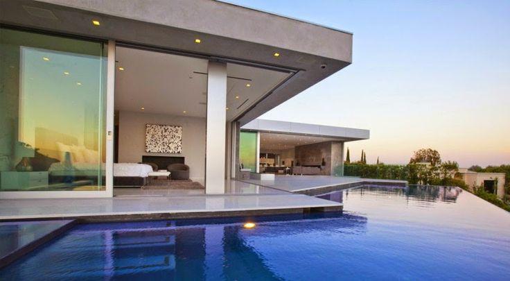 Casa Tanager con Fantásticas Vistas a Beverly Hills y el Océano