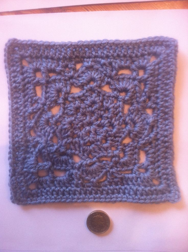 First square for woolly hugs