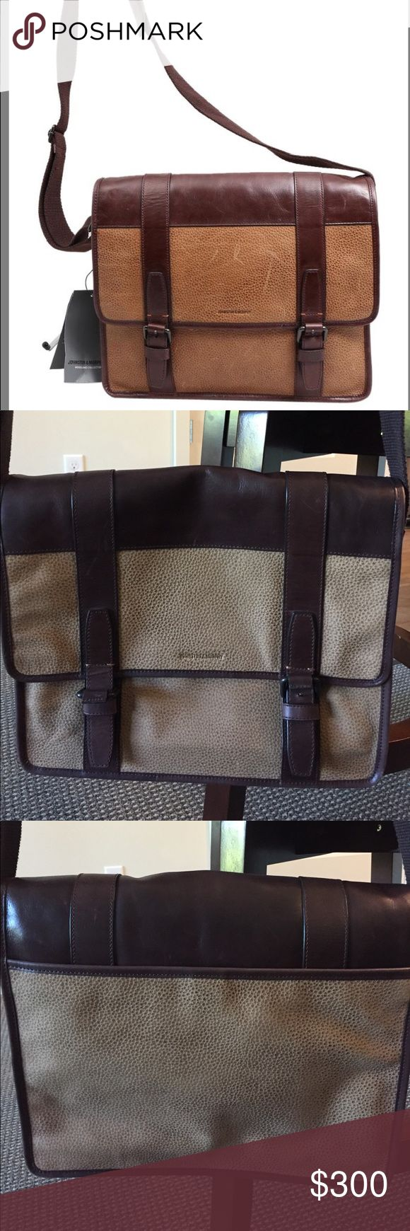 NWOT Johnston & Murphy messenger bag Johnston & Murphy messenger bag - NEVER used! NWOT Johnston & Murphy Bags Messenger Bags