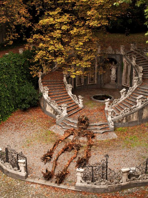 A Skeleton of Found Roots and Tree Limbs Heralds the Beginning of Fall in Italy