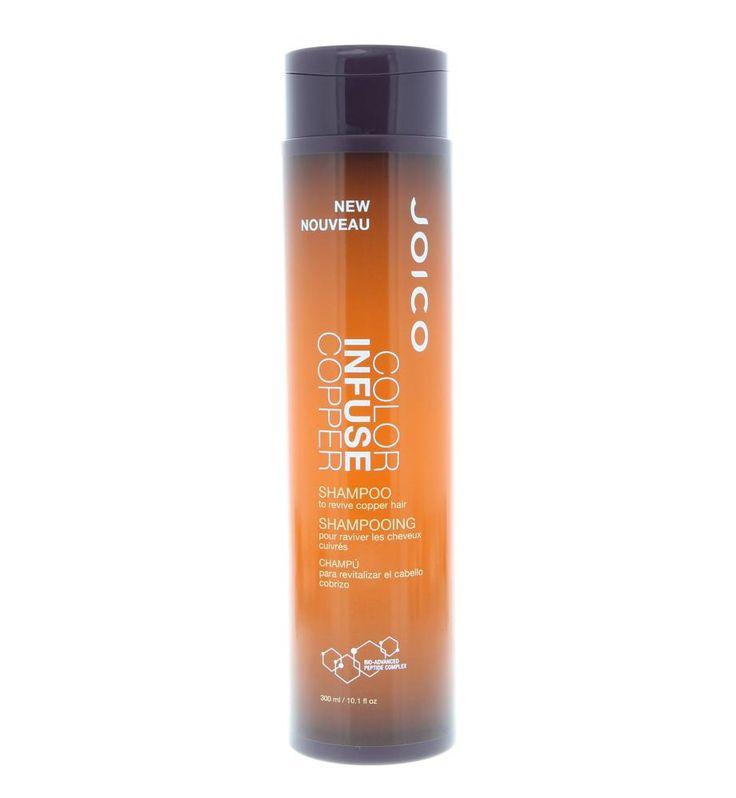 Joico Color Infuse Copper Shampoo Gekleurd Haar 300ml  Joico Color Infuse Copper Shampoo. Deze shampoo herstelt het kastanjebruin of rode haar en geeft een metallic gloed af. Gaat het vervagen van de kleur tegen en verbetert de pigmenten waardoor de kleur tot wel 18 wasbeurten mooi blijft. Gebruik: Aanbrengen op nat haar voor maximale intensiteit 5 minuten laten inwerken en uitspoelen.  EUR 22.30  Meer informatie