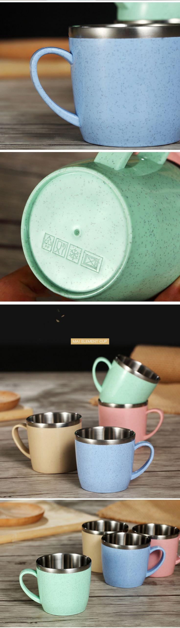 Worthbuy Творческий мини милые Пластик Кофе Чай кружка экологичный пшеничной соломы Дети питьевой воды Кружки Школа Офис Посуда для напитков купить на AliExpress