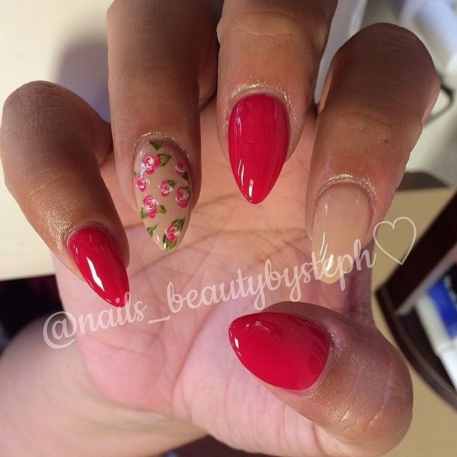 RED NUDE AND FLOWER DESIGN..SUPER CUTE