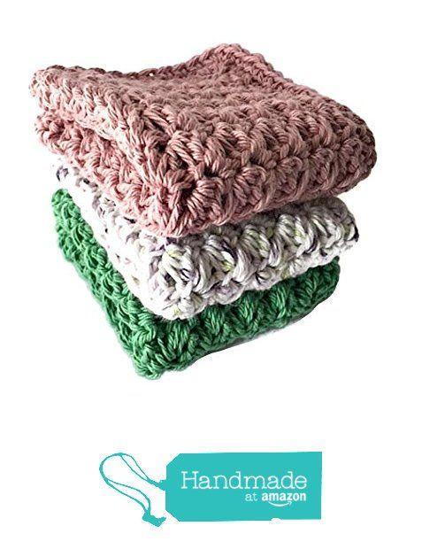 Kitchen Dish Cloths Rose Lilac Green Cotton Set of 3 Handmade Wash Cloths Crochet https://www.amazon.com/dp/B06XZKRMYF/ref=hnd_sw_r_pi_dp_tgu4ybYG1EG5T #handmadeatamazon