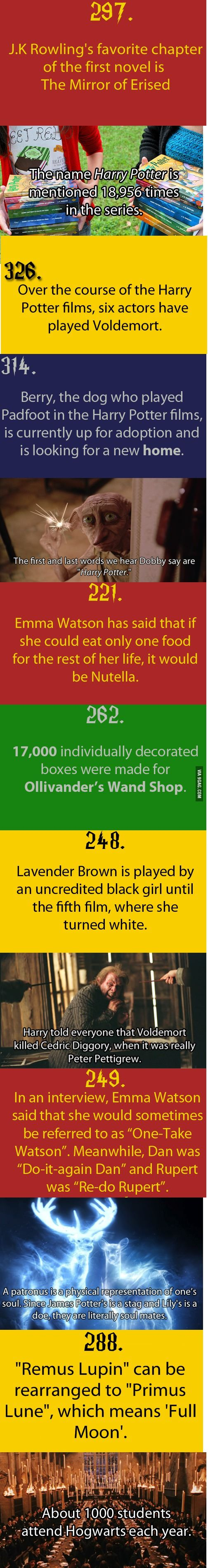 9GAG - Just Some Harry Potter Facts Part 1