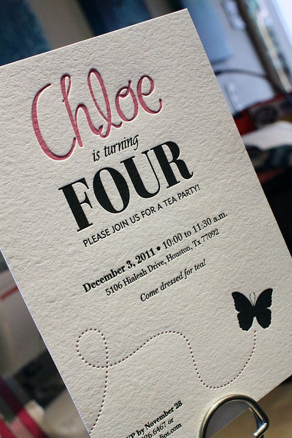 16 best letterpress for birthday party images on pinterest childs birthday party invitation cranes lettra fluorescent white 110 lb pink black letterpress filmwisefo Images