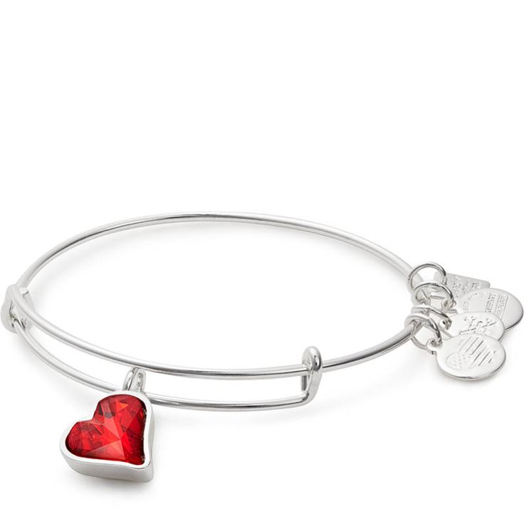 Alex and Ani Heart of Strength Charm Bangle | Global Fund to fight AIDS with RED at The Paper Store