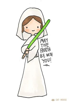 May the Fourth be with you! Star Wars Love, Star Wars Day, Star Wars Fan Art, Star Wars Birthday Cake, Mouse Illustration, Star Wars Christmas, Cat Mouse, Disney Star Wars, Geek Girls