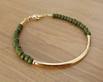 Popular items for gold tube bracelet on Etsy