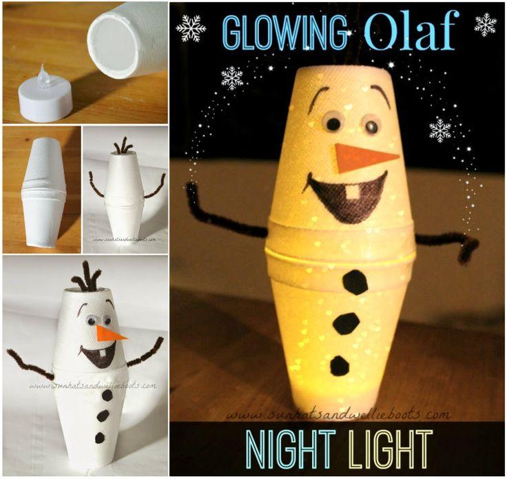 Glowing Olaf Night Light