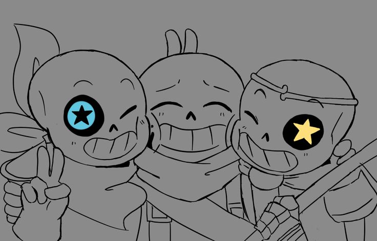 We are the Star Sanses~ — This comic it's just a test for