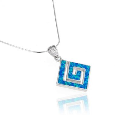 12 best opal pendant images on pinterest blue opal 925 silver and a fine sterling silver pendant with blue opal inlay inspired by the famous ancient greek mozeypictures Gallery