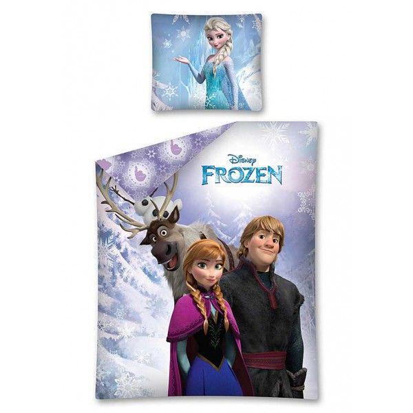 Disney Frost sengetøj med Anna elsa olaf kristoff og sven fra Disney filmen
