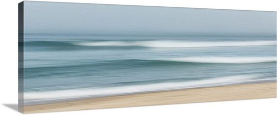 Large Abstract Wall Art Ocean Waves in Fog Coastal by klgphoto