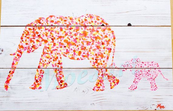 Elephant Art Print, Baby Nursery, For The Elephant Lover, Baby Room, Save the Elephants, Kids room, Childrens Decor Gift Idea #silhouette #pachyderm #shiplap #elephantlover
