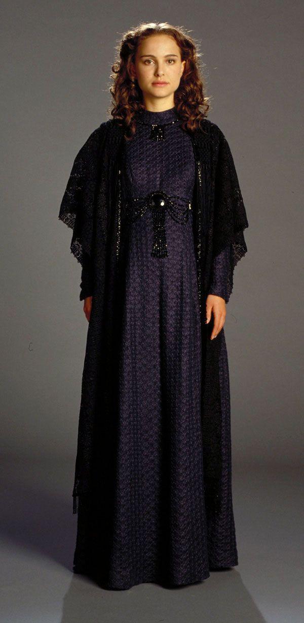 Star Wars (III)_Padme_gown & shawl_linen_navy blue