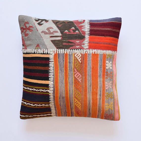 Federe Cuscini 55x55.Patchwork Kilim Pillows Rug Pillow Kilim Pillow Patchwork 22x22