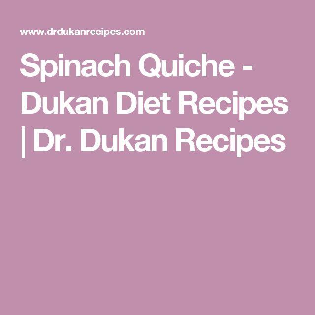Spinach Quiche - Dukan Diet Recipes | Dr. Dukan Recipes