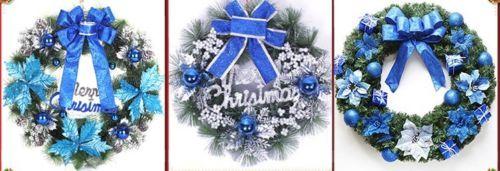 30cm corona Pino Navidad árbol de Navidad decoración de invierno de puerta de vacaciones adornos