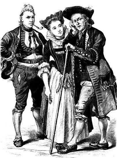 Костюмы Швейцарии, конец 18 века