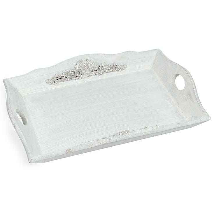 Merano whitewashed tray