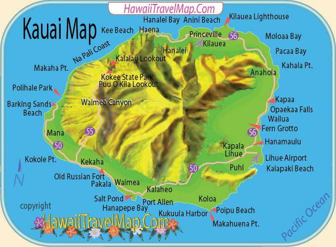 Kauai Hawaii Maps Pinterest Kauai Hawai Y B 250 Squeda