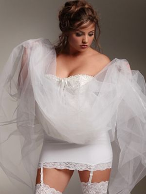 49 best images about plus size bridal on pinterest for Garter under wedding dress