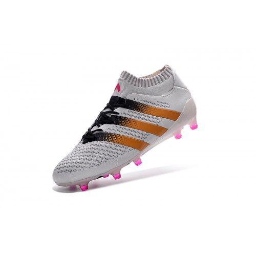 Beste Adidas ACE 16.1 Primeknit FG AG Hvit Fotballsko -Ny Adidas ACE Fotballsko