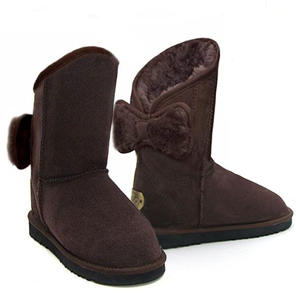 http://www.uggbootsmadeinaustralia.com.au/Shearling-Bow-Melba-Ugg-Boots-Chocolate.aspx