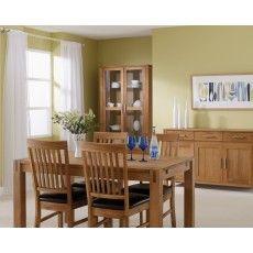 Royal Oak Slatted Dining Chair C/W Brown Bi-Cast Seat Pad