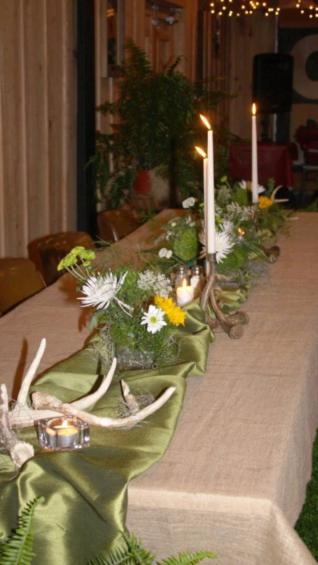 Hunting Themed Rehearsal Dinner Decorations