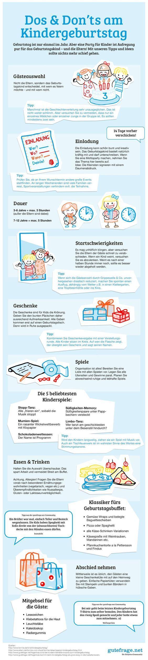 Wie geht das am Besten mit dem Kindergeburtstag - Sehr hilfreicher Überblick der Do's and Don'ts ★