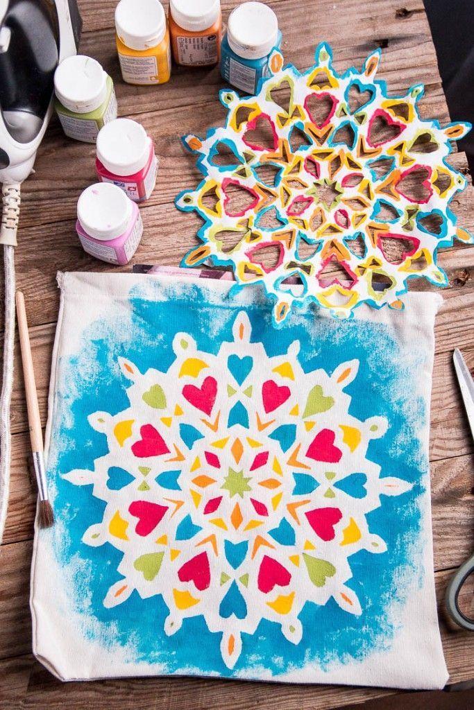 Cómo Pintar un Mandala Fácilmente en Tela - Incluso Para Niños - Cosas Caseras