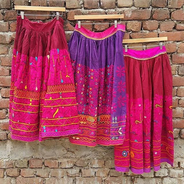 Loving these skirts from @indianvogue #ethicalfashion #local #banjara #tribal #boho #bondi #bohochic #handmadefashion #artisans #india #happy #summer #instalove #oobuntooshop