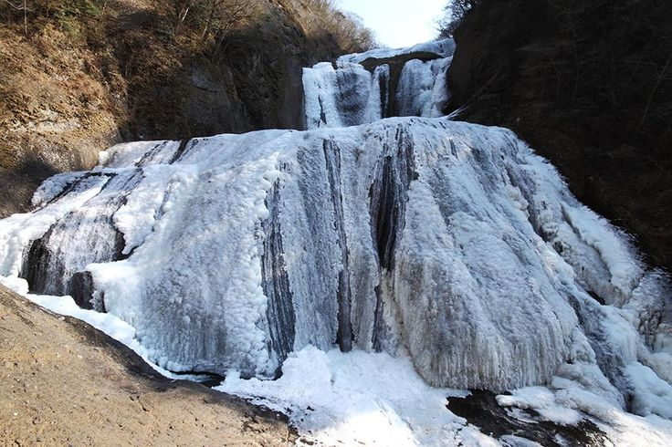 袋田の滝の氷瀑/茨城県