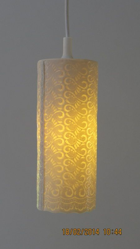 Porcelain lampshade